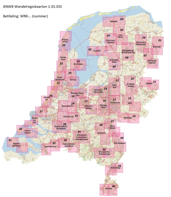 WRK-08 Dwingelderveld, Drents-Friese Wold | ANWB wandelkaart 1:33.333 9789018046422  ANWB Wandelregiokaarten 1:33.333  Wandelkaarten Drenthe, Friesland