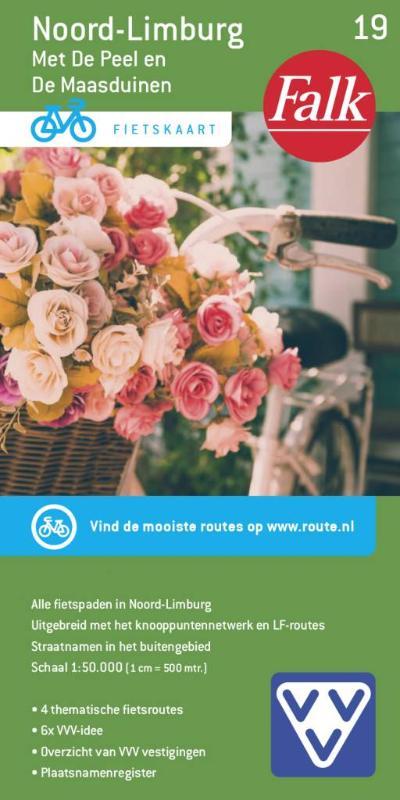 FFK-19  Noord- en Midden-Limburg | VVV fietskaart 1:50.000 9789028703902  Falk Fietskaarten met Knooppunten  Fietskaarten Noord- en Midden-Limburg