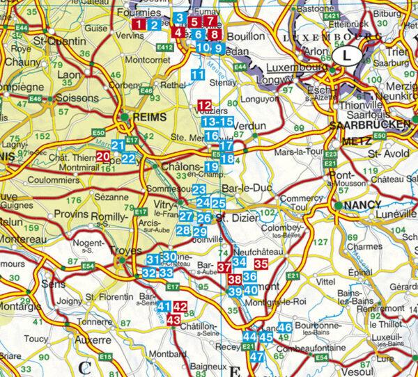 Champagne - Ardennen Rother Wandelgids 9789038928159 Thomas Rettstatt Elmar RWG  Wandelgidsen Champagne, Franse Ardennen