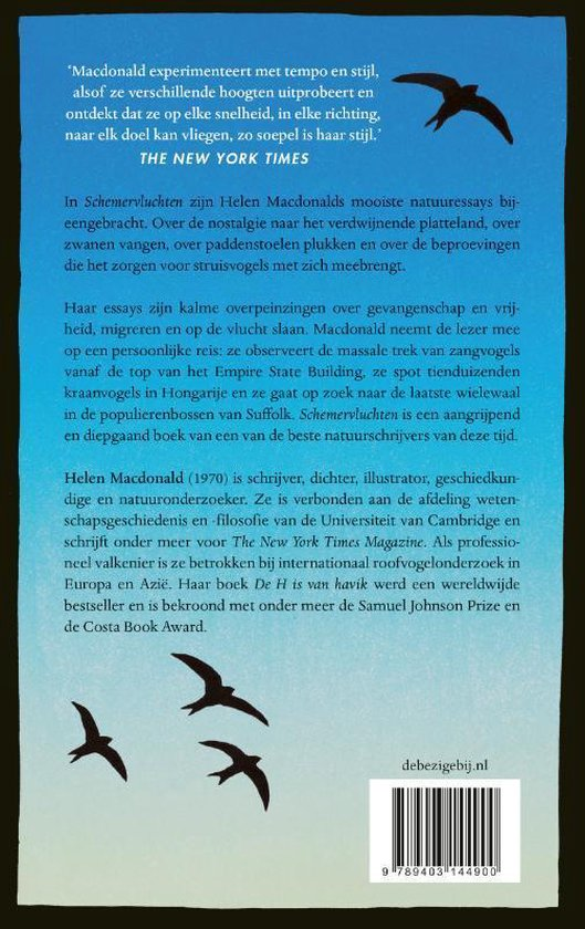 Schemervluchten | Helen McDonald 9789403144900 Helen McDonald Bezige Bij   Natuurgidsen, Vogelboeken Wereld als geheel