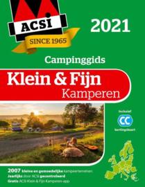 ACSI Klein & Fijn Kamperen gids + app 2021 9789493182011  ACSI   Campinggidsen Europa