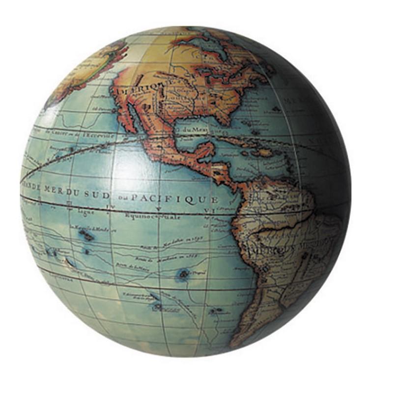 Vaugondy Globe, colour GL213  Authentic Models Globes / Wereldbollen  Globes Wereld als geheel