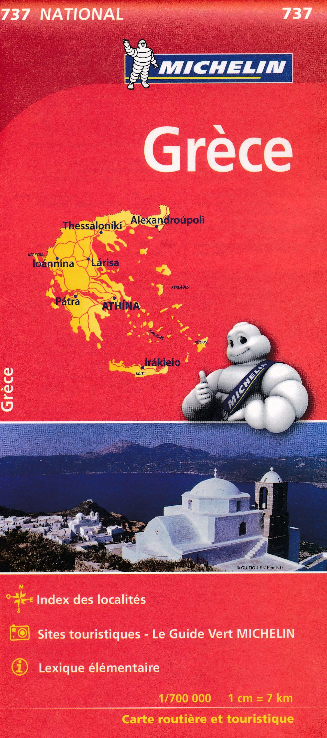 737 Michelin wegenkaart Griekenland 1:700.000 9782067172005  Michelin   Landkaarten en wegenkaarten Griekenland