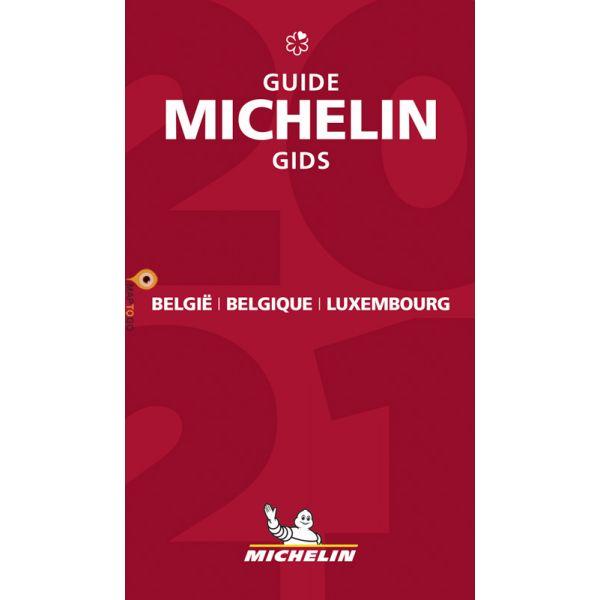 Michelin Gids Belgie + Luxemburg 2021 9782067250475  Michelin Rode Jaargidsen  Hotelgidsen, Restaurantgidsen België & Luxemburg