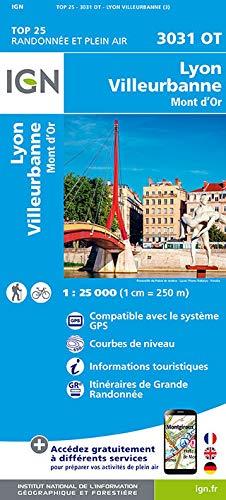 3031OT  Lyon | wandelkaart 1:25.000 9782758535027  IGN IGN 25 Omgeving Lyon  Wandelkaarten Lyon en omgeving