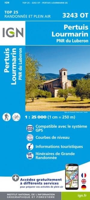 3243OT  Pertuis, Lourmarin, Luberon | wandelkaart 1:25.000 9782758541837  IGN IGN 25 Provence  Wandelkaarten Provence, Marseille, Camargue