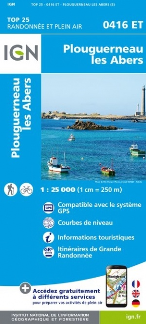 0416ET  Plouguerneau, Les Abers | wandelkaart 1:25.000 9782758542520  IGN IGN 25 Bretagne  Wandelkaarten Bretagne