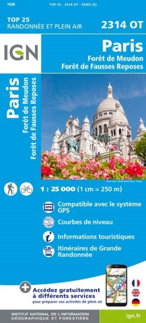 2314OT Paris | wandelkaart 1:25.000 9782758543428  IGN IGN 25 Île-de-France  Stadsplattegronden Parijs, Île-de-France