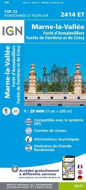 2414ET  Lagny sur Marne | wandelkaart 1:25.000 9782758543435  IGN IGN 25 Île-de-France  Wandelkaarten Parijs, Île-de-France