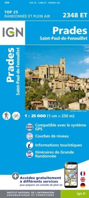 2348ET  Prades, Sournia | wandelkaart 1:25.000 9782758545361  IGN IGN 25 Franse Pyreneeën  Wandelkaarten Franse Pyreneeën