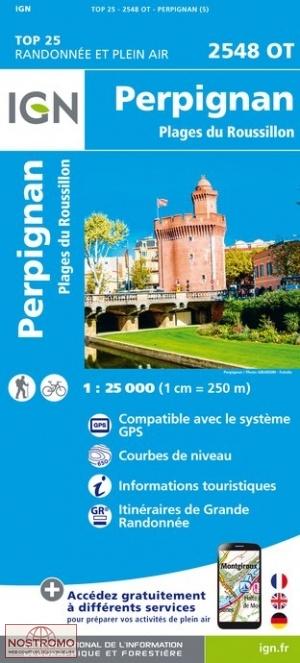 2548OT   Perpignan | wandelkaart 1:25.000 9782758545408  IGN IGN 25 Cevennen & Languedoc  Wandelkaarten Cevennen, Languedoc, Franse Pyreneeën