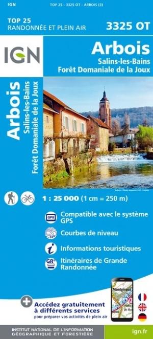 3325OT  Salins-les-Bains | wandelkaart 1:25.000 9782758545545  IGN IGN 25 Jura (F)  Wandelkaarten Franse Jura