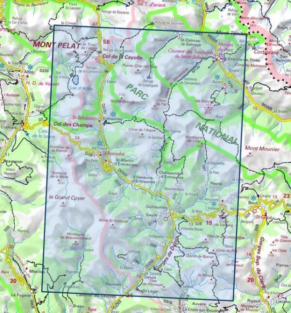 3540ET  Haute Vallée du Var   wandelkaart 1:25.000 9782758545682  IGN IGN 25 Franse Alpen/ zuidhelft  Wandelkaarten Franse Alpen: zuid