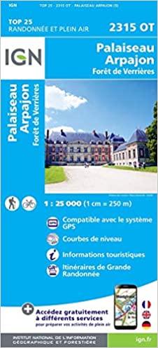 2315OT  Monthery | wandelkaart 1:25.000 9782758546436  IGN IGN 25 Île-de-France  Wandelkaarten Parijs, Île-de-France
