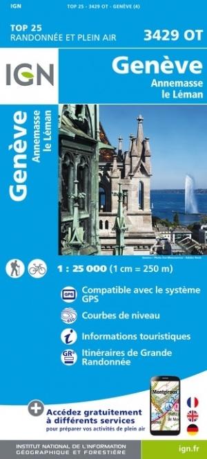 3429OT  Genève | wandelkaart 1:25.000 9782758546702  IGN IGN 25 Franse Alpen/ Nrd.helft  Wandelkaarten Franse Alpen: noord