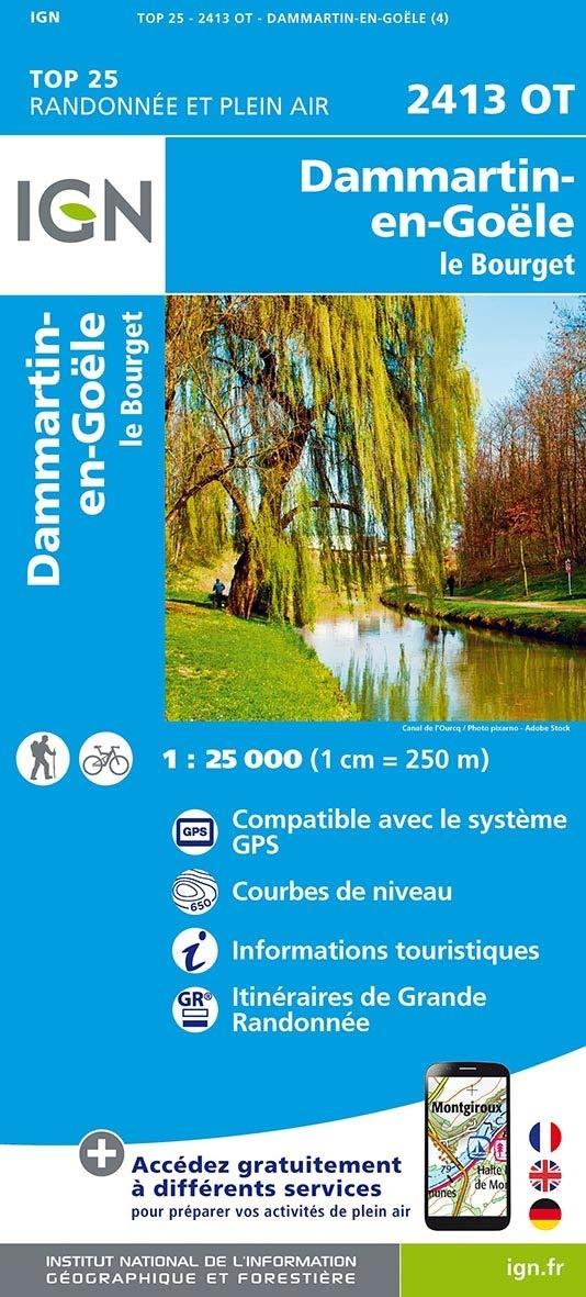 2413OT   Dammartin-en-Goële, Bobigny | wandelkaart 1:25.000 9782758548607  IGN IGN 25 Île-de-France  Wandelkaarten Parijs, Île-de-France