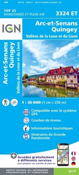 3324ET  Amancey, Quingey, Mouchard | wandelkaart 1:25.000 9782758550136  IGN IGN 25 Jura (F)  Wandelkaarten Franse Jura