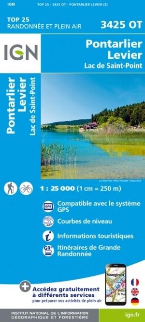3425OT  Pontarlier, Levier | wandelkaart 1:25.000 9782758550204  IGN IGN 25 Jura (F)  Wandelkaarten Franse Jura