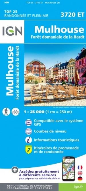 3720ET  Mulhouse | wandelkaart 1:25.000 9782758550556  IGN ING 25 Vogezen  Wandelkaarten Vogezen