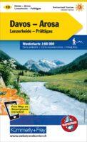 KFW-13  Davos, Arosa, Prättigau | wandelkaart / overzichtskaart 9783259022139  Kümmerly & Frey Wandelkaarten Zwitserland  Wandelkaarten Graubünden, Tessin