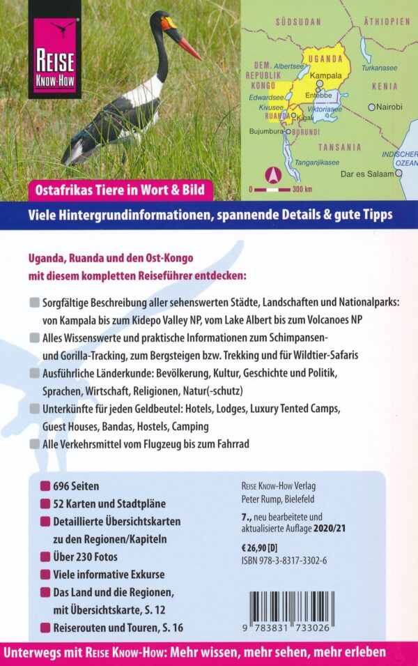 Reise Know-How Uganda, Ruanda & Ost-Kongo | reisgids 9783831733026  Reise Know-How   Reisgidsen Uganda, Rwanda, Burundi, Ruwenzorigebergte