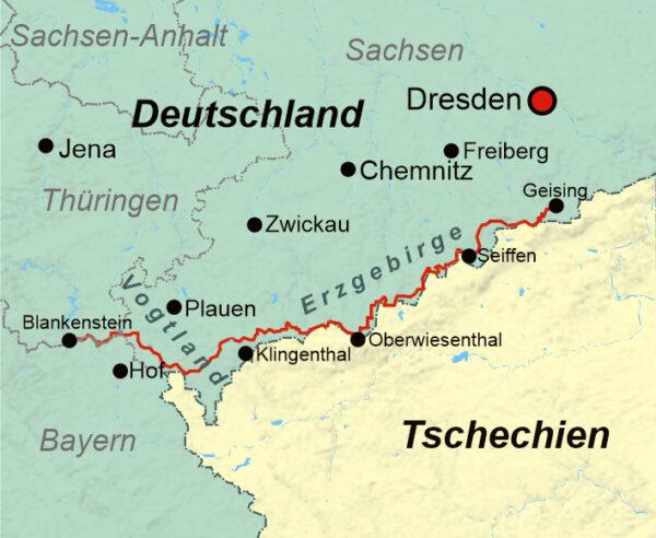 wandelgids Kammweg Erzgebirge-Vogtland 9783866866751  Conrad Stein Verlag Outdoor - Der Weg ist das Ziel  Meerdaagse wandelroutes, Wandelgidsen Sächsische Schweiz, Elbsandsteingebirge, Erzgebirge