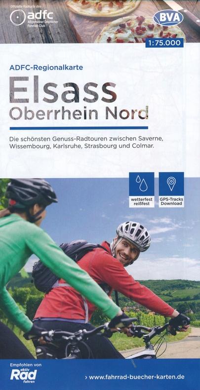 Elzas fietskaart 1:75.000 9783870738983  ADFC / BVA Radtourenkarten 1:150.000  Fietskaarten Vogezen, Zwarte Woud