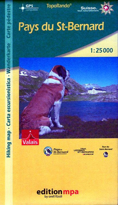 Pays de St-Bernard | wandelkaart MPA 1:25.000 9783905706581  Orel Füssli Edition MPA, Topo Rando  Wandelkaarten Wallis