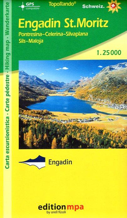 Engadin, St.Moritz | wandelkaart MPA 1:25.000 9783905873788  Orel Füssli Edition MPA, Topo Rando  Wandelkaarten Graubünden, Tessin