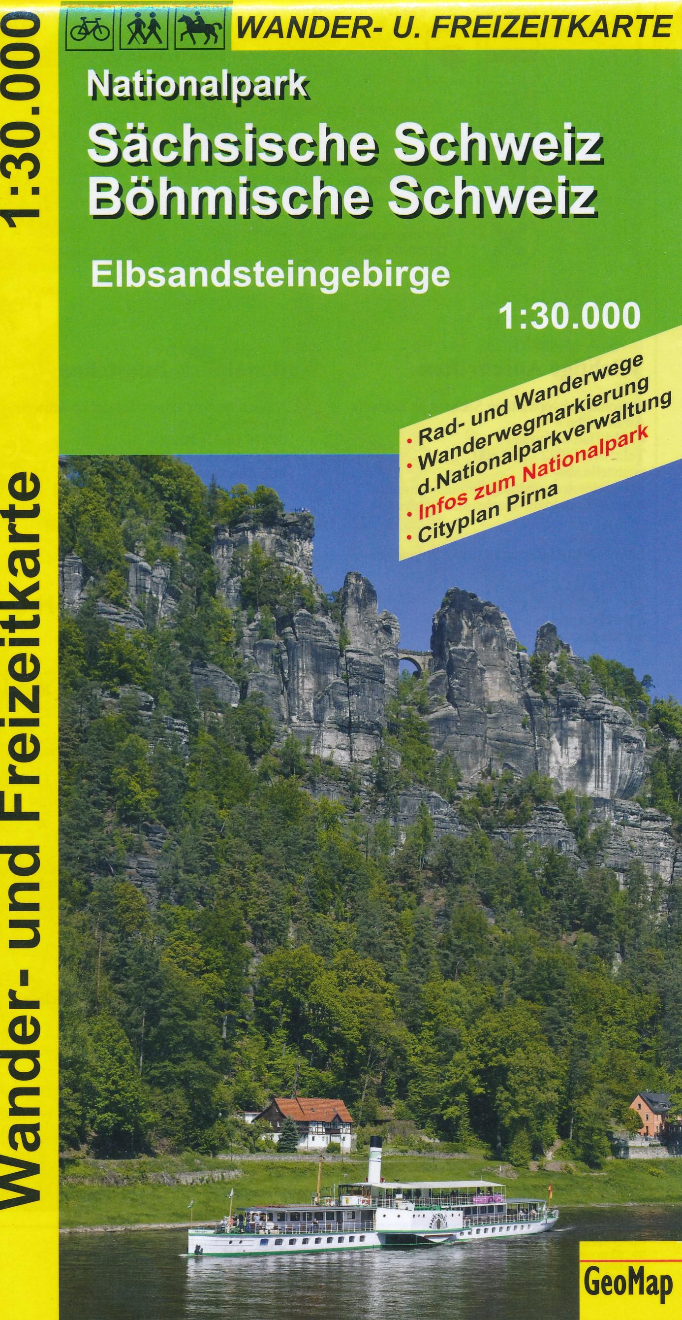 Sächsisch-Böhmische Schweiz 1:30.000 9783933671714  GeoMap Wandelkaarten Duitsland  Wandelkaarten Erzgebirge, Elbsandsteingebirge, Lausitz