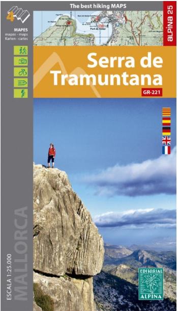 Serra de Tramuntana (Mallorca) 9788480908108  Editorial Alpina Wandelkaarten Spanje  Meerdaagse wandelroutes, Wandelkaarten Mallorca