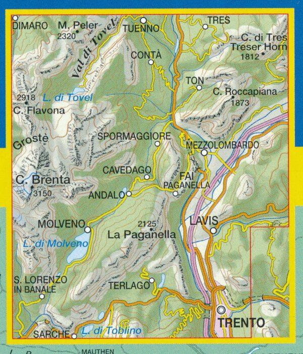 TAB-067 Altopiano della Paganella   Tabacco wandelkaart 9788883151132  Tabacco Tabacco 1:25.000  Wandelkaarten Zuid-Tirol, Dolomieten