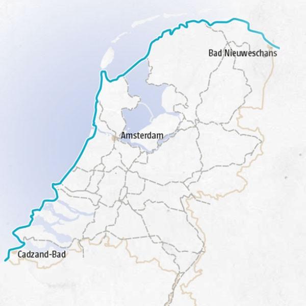 Fietsgids LF Kustroute 9789072930675  Buijten & Schipperheijn Landelijk Fietsplatform  Fietsgidsen Nederland