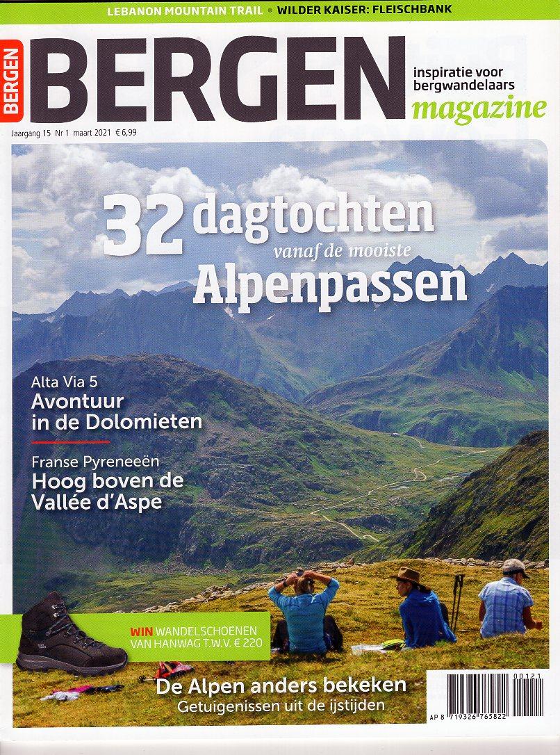 Bergen Magazine Maart 2021 BM2021A  Tijdschriften, Virtu Media Bergen Magazine  Bergsportverhalen, Wandelreisverhalen Reisinformatie algemeen