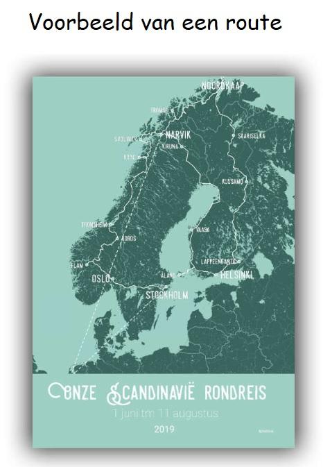 Maak je eigen reisposter: Scandinavië RP-SCA denoorderzon.reisposter.nl De Noorderzon Reisposter   Reisgidsen, Wandkaarten Scandinavië & de Baltische Staten