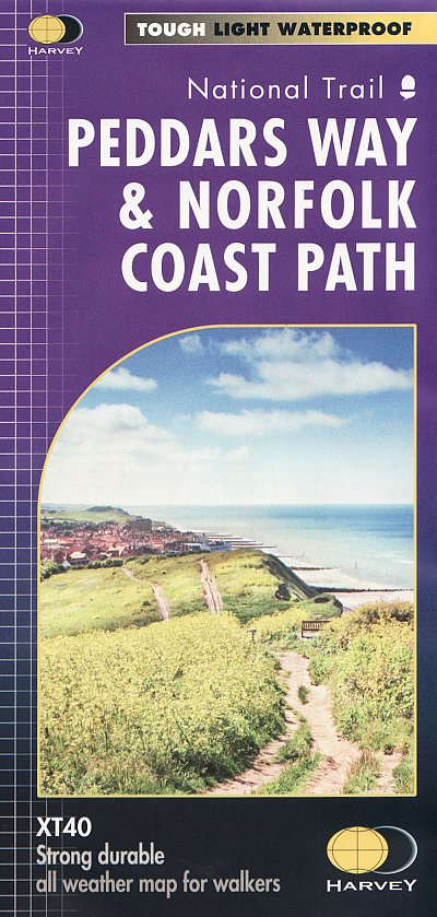 Peddars Way & Norfolk Coast Path | wandelkaart 1:40.000 9781851376292  Harvey Maps   Meerdaagse wandelroutes, Wandelkaarten Lincolnshire, Norfolk, Suffolk, Cambridge