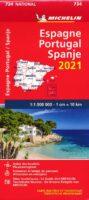 734 Spanje Michelin wegenkaart 1:1.000.000 9782067249608  Michelin Michelinkaarten Jaaredities  Landkaarten en wegenkaarten Spanje