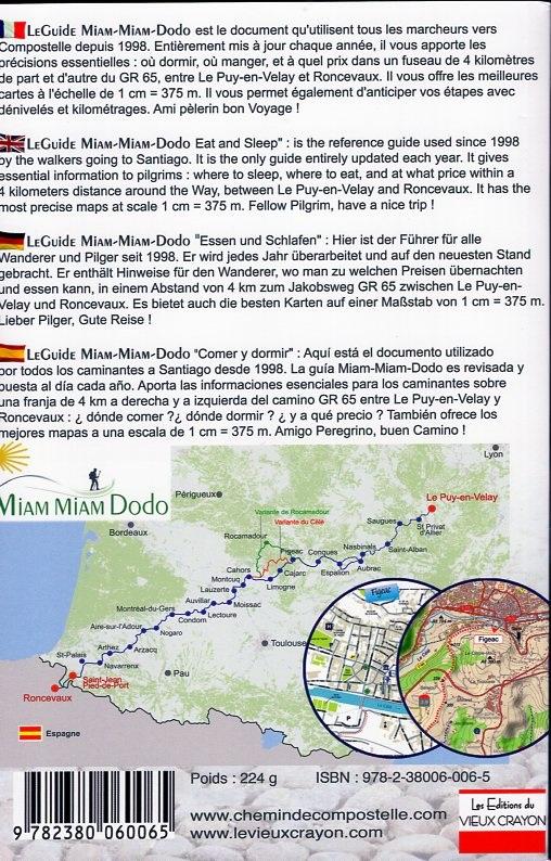 Miam-Miam-Dodo: Le Guide GR65 Section 2:  Cahors - Roncevaux 9782380060065  Vieux Crayon Miam Miam Dodo  Santiago de Compostela, Wandelgidsen Frankrijk