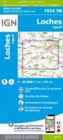 SB-1924SB Loches - Ligueil | wandelkaart 1:25.000 9782758534051  IGN IGN 25 Normandië  Wandelkaarten Normandië
