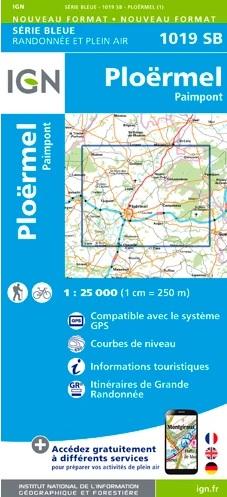 wandelkaart 1019-SB Ploërmel / Paimpont 1:25.000 9782758535249  IGN IGN 25 Bretagne  Wandelkaarten Bretagne