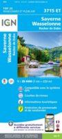 3715ET Saverne - Wasselonne - Rocher de Dabo | wandelkaart 1:25.000 9782758550457  IGN ING 25 Vogezen  Wandelkaarten Vogezen