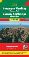 FBN4  Noorwegen Noordkaapregio | autokaart, wegenkaart 1:400.000 9783707904659  Freytag & Berndt FBN Veikart  Landkaarten en wegenkaarten Noorwegen boven de Sognefjord