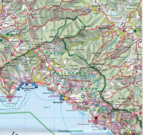 WKI-02 Cinque Terre, Portofino | wandelkaart 1:50.000 9783707917956  Freytag & Berndt WK 1:50.000  Wandelkaarten Genua, Ligurië