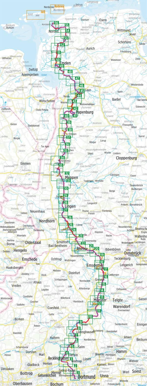 Dortmund-Ems-Kanal Radfernweg | Bikeline fietsgids 9783850008969  Esterbauer Bikeline - Mini  Fietsgidsen Münsterland, Bentheim