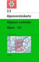 AV-02/2 Allgäuer/Lechtaler Alpen Ost [2017] Alpenvereinskarte wandelkaart 9783928777148  AlpenVerein Alpenvereinskarten  Wandelkaarten Tirol & Vorarlberg