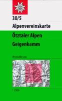 AV-30/5  Ötztaler A., Geigenkamm [2021] Alpenvereinskarte wandelkaart 9783948256043  AlpenVerein Alpenvereinskarten  Wandelkaarten Tirol & Vorarlberg
