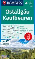 KP-188 Kaufbeuren/Ostallgäu | Kompass wandelkaart 9783990448915  Kompass Wandelkaarten Kompass Duitsland  Wandelkaarten Beierse Alpen