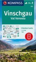KP-670 Vinschgau, Val Venosta   Kompass 3 kaarten 1:25.000 9783990449356  Kompass Wandelkaarten Kompass Italië  Wandelkaarten Zuid-Tirol, Dolomieten