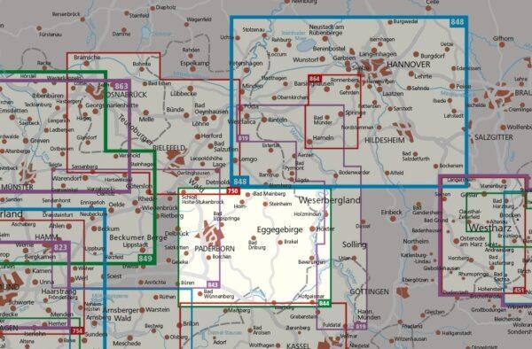 KP-844  Teutoburger Wald Süd 1:50.000 | Kompass 9783990449974  Kompass Wandelkaarten Kompass Duitsland  Wandelkaarten Teutoburger Woud & Ostwestfalen