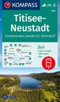 KP-893 Titisee/Neustadt | Kompass wandelkaart 1:25.000 9783991210610  Kompass Wandelkaarten Kompass Duitsland  Wandelkaarten Bodenmeer, Schwäbische Alb